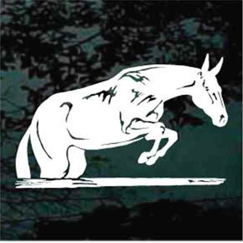 Mule Jumping Window Decals