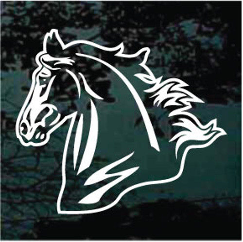 Majestic Mustang Horse Head Decals