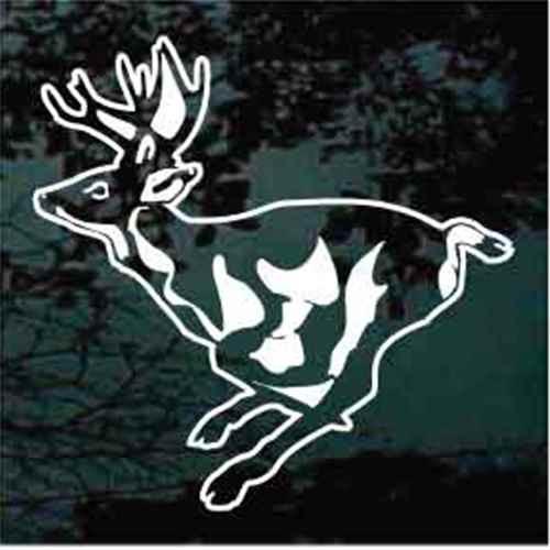 Detailed Deer Jumping