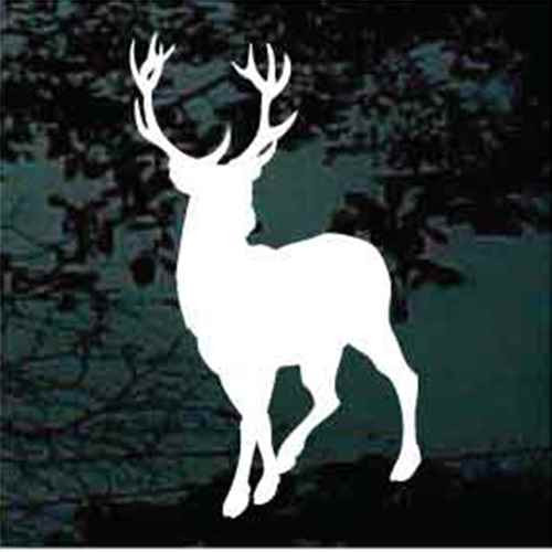 12 Point Buck Deer Silhouette Decals