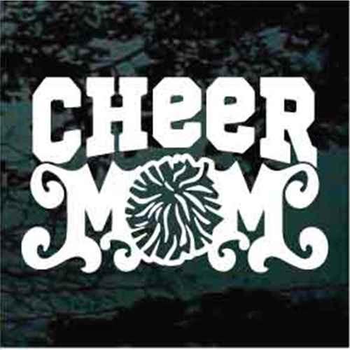 Cheer Mom With Pom Pom
