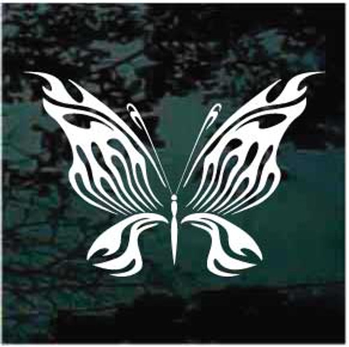 Intricate Tribal Butterfly Window Decal