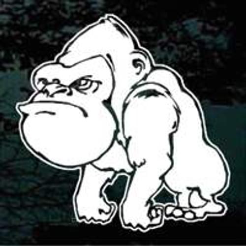 Mad Gorilla Cartoon Decals