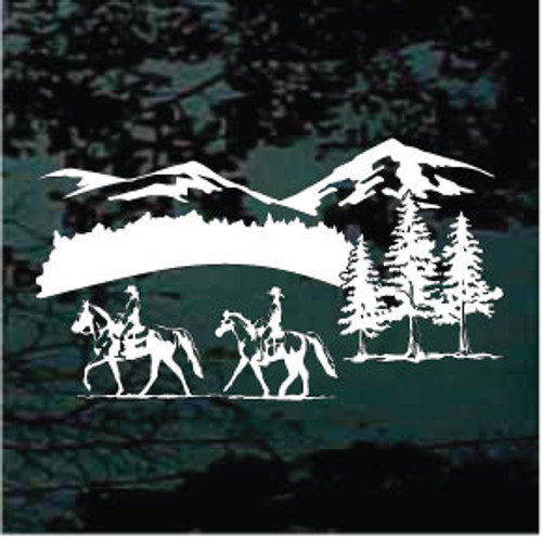 Gaited Horses Trail Riding Decals