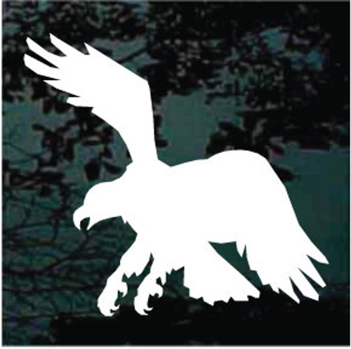 Eagle Catching Prey Silhouette Window Decals