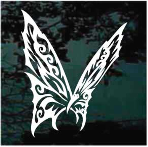 Attractive Tribal Butterfly Window Decal