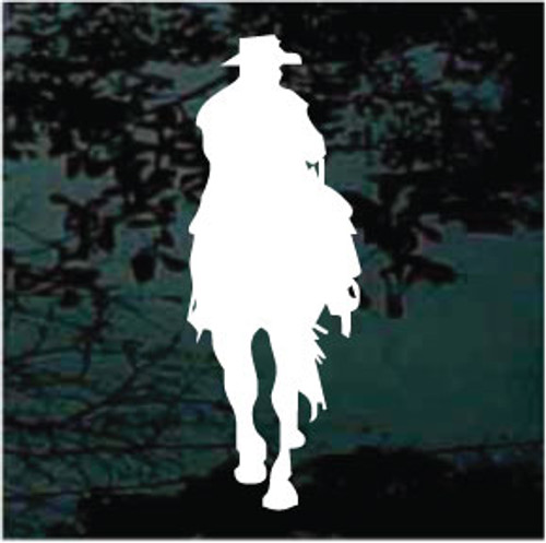 Cowboy Riding Silhouette Window Decals