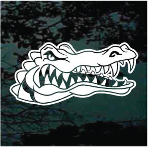 Alligator Head Mascot Window Decals