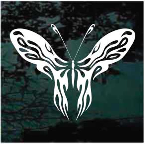 Cool Tribal Butterfly Window Decal