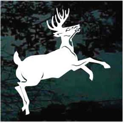8 Point Deer Jumping Decals