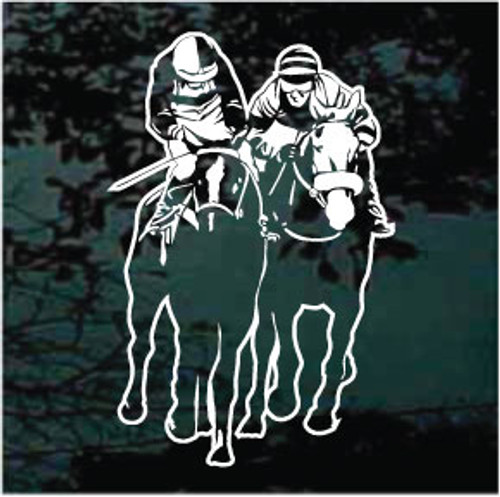 Two Race Horses Decals