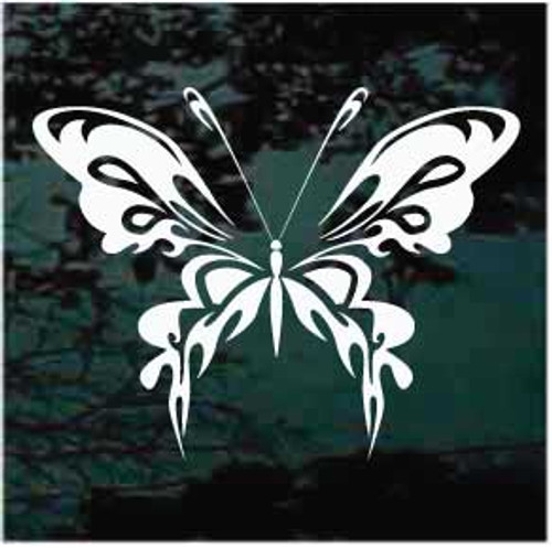 Intricate Tribal Butterfly Decoration Window Decal