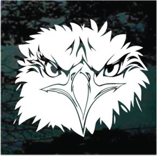 Angry Eagle Head Window Decals