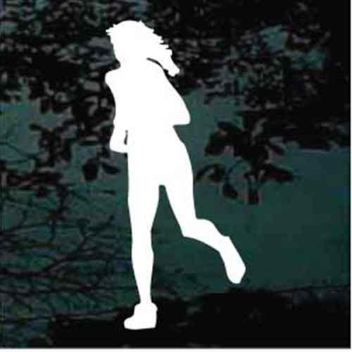 Silhouette Girl Running