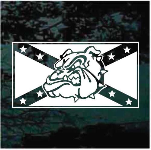 Confederate Flag Bulldog Window Decals