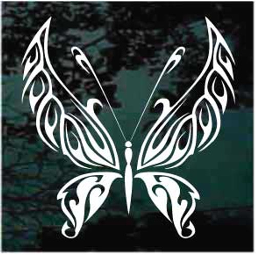 Fantastic Tribal Butterfly Window Decal