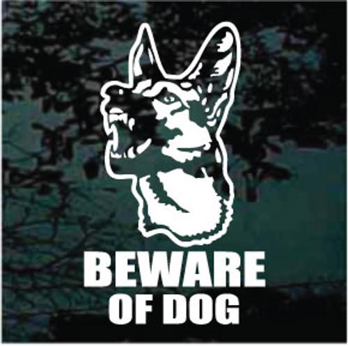 German Shepherd Beware Of Dog Decals