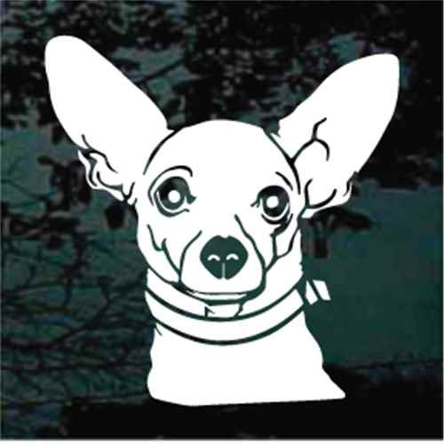 Chihuahua Face Window Decal