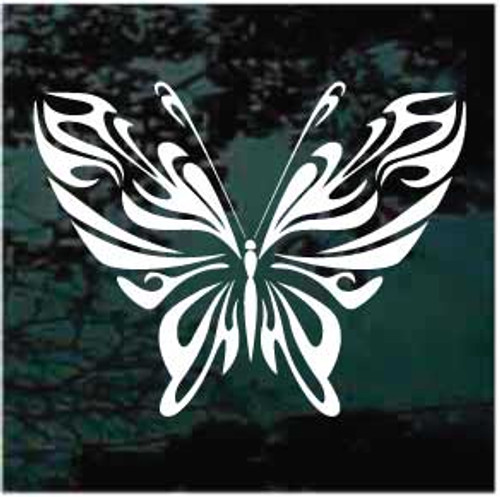 Decorative Whimsical Tribal Butterfly Window Decal