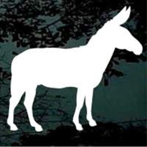 Mule Silhouette Window Decals