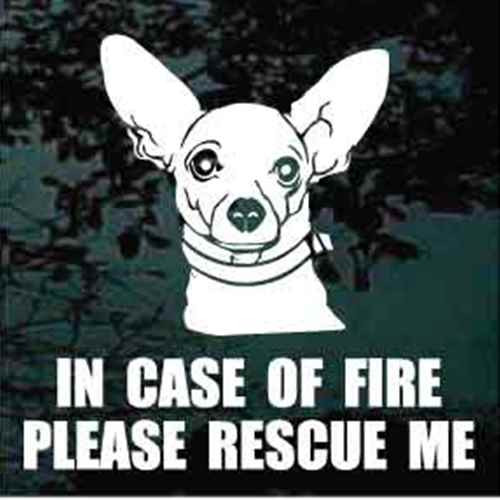Chihuahua Fire Rescue Window Decal