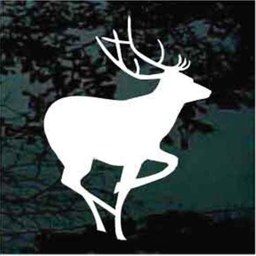 Elk Deer Silhouette Window Decals