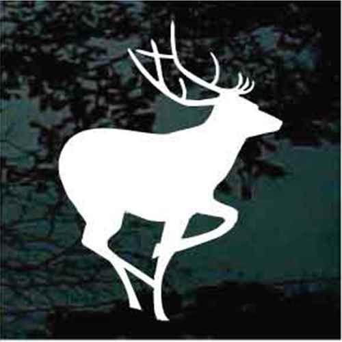 Elk Deer Silhouette Window Decals