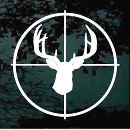 10 Point Deer Head In Scope Decals