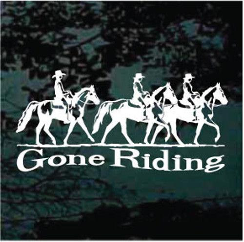 Three Gaited Horses Gone Riding Decals