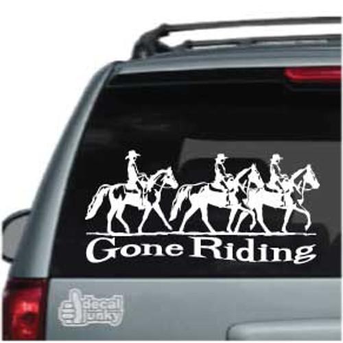 Three Gaited Horses Gone Riding Car Decal