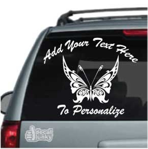 Beautiful Intricate Tribal Butterfly Car Decal