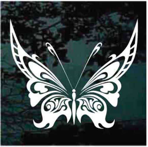 Beautiful Intricate Tribal Butterfly Window Decal