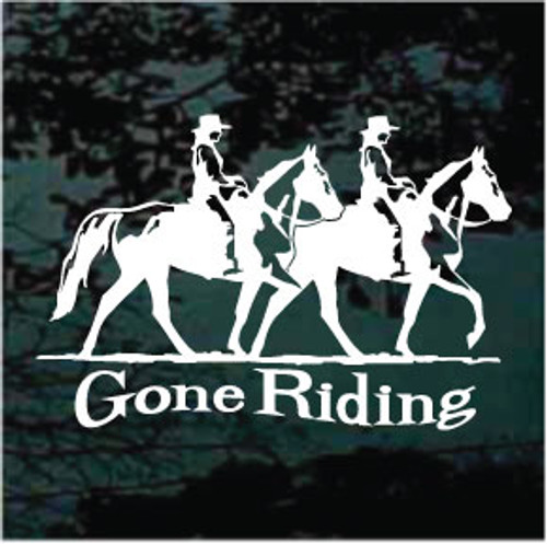 Two Gaited Horses Gone Riding Decals