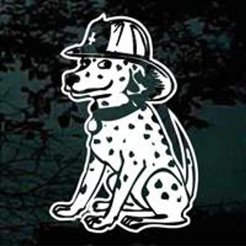 Dalmatian Fire Dog Window Decal