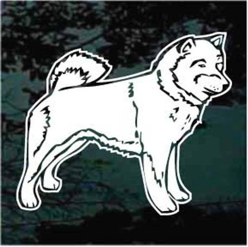 Shiba Inu Dog Profile Window Decals