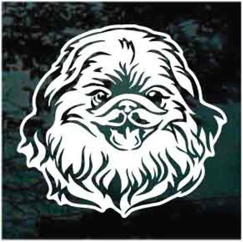 Sweet Pekingese Head Window Decals