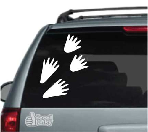 Coon Tracks Car Decal