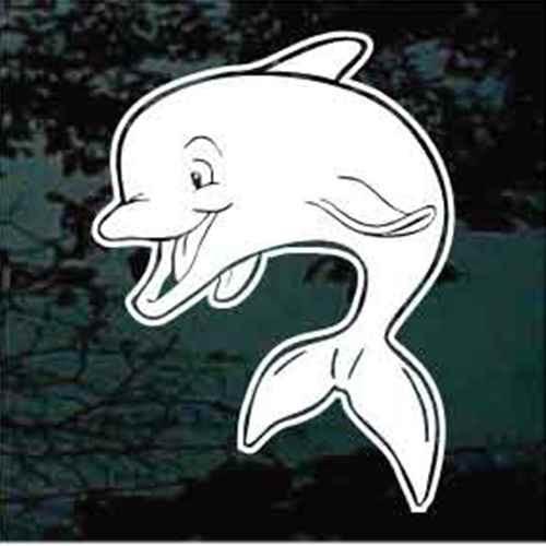 Happy Dolphin Window Decals
