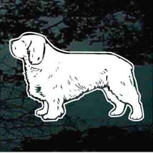 Clumber Spaniel Standing Window Decal