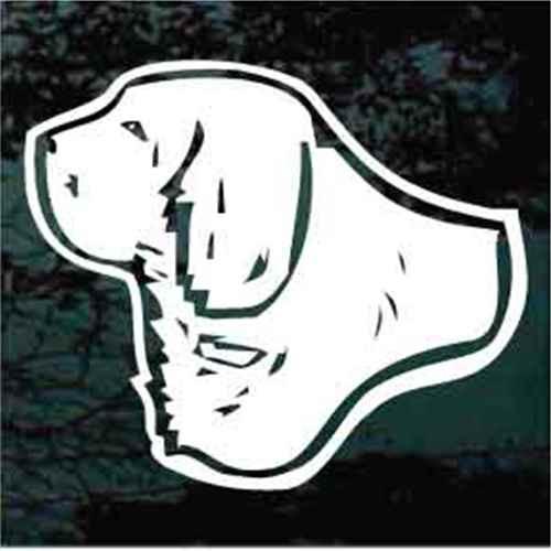 Clumber Spaniel Head Window Decals
