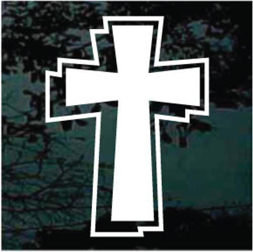 Christian Cross 02 Window Decals