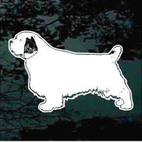 Clumber Spaniel Stance Window Decal
