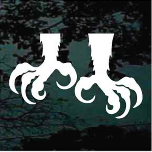Eagle Claws Window Decals