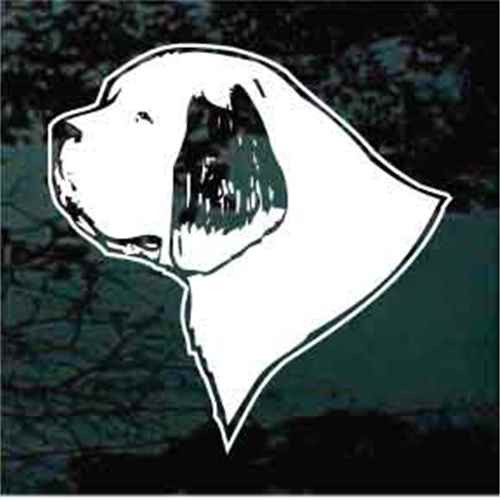 Clumber Spaniel Head Profile Window Decals