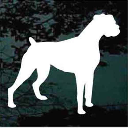 Boxer Silhouette Window Decal