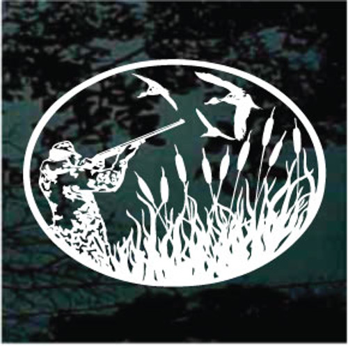 Duck Hunter Oval Decals