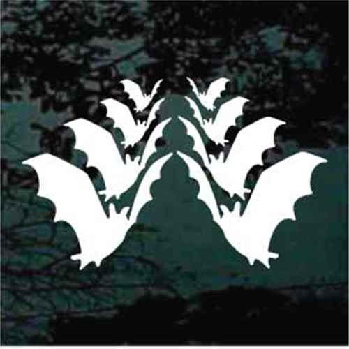 Custom Bats Silhouette Window Decal