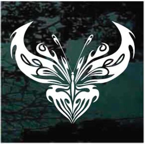 Delightful Tribal Butterfly Window Decal