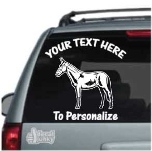 Detailed Mule Standing Car Decals