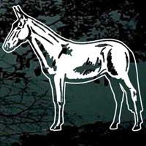 Detailed Mule Standing Window Decal